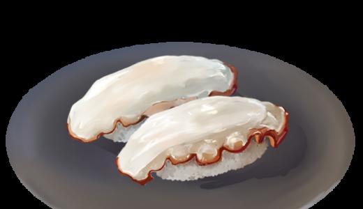 タコのお寿司のイラスト(お皿ありバージョン)