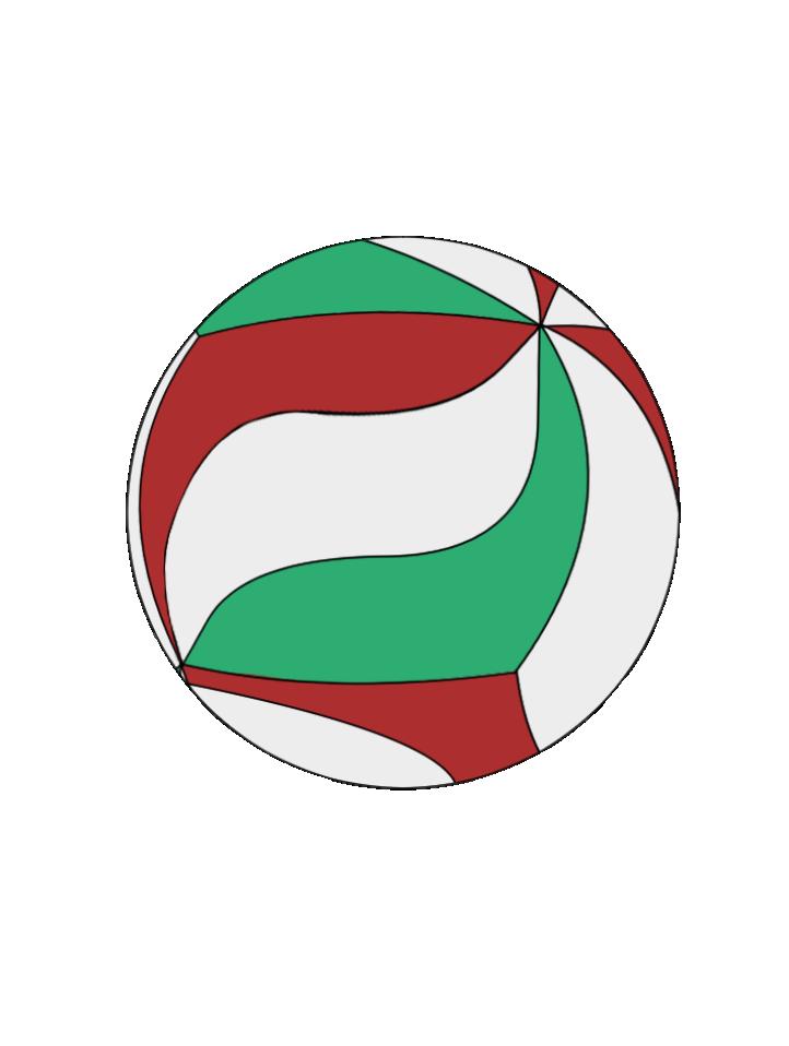 バレーボール用のボールのイラスト1