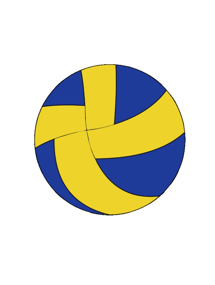 バレーボール用のボールのイラスト2