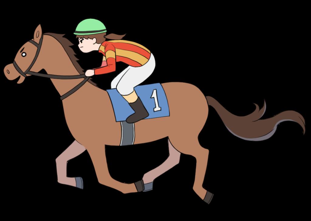 女性騎手の競馬のイラスト1