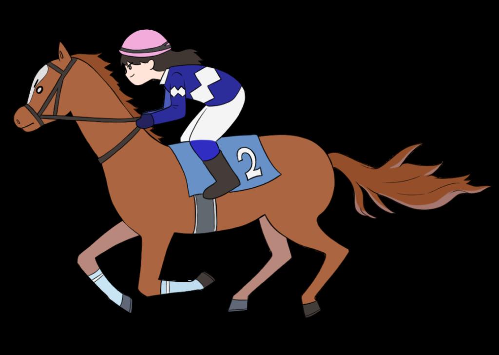 女性騎手の競馬のイラスト2