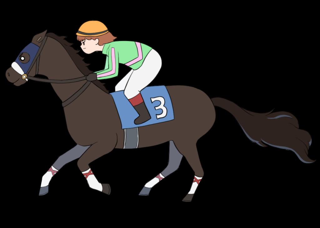 女性騎手の競馬のイラスト3