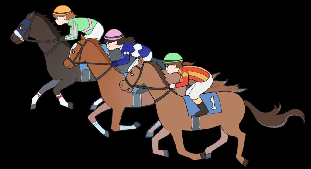 女性騎手の競馬のイラスト4