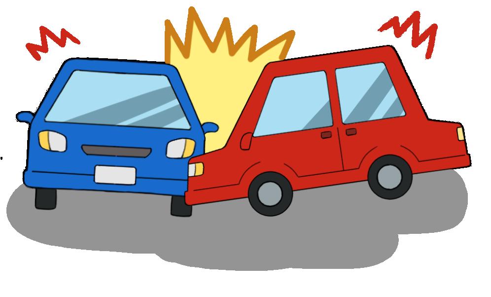 車同士の交通事故のイラスト1