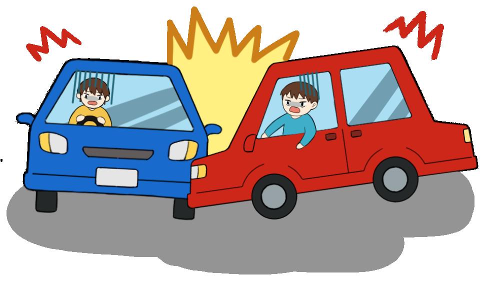 車同士の交通事故のイラスト2