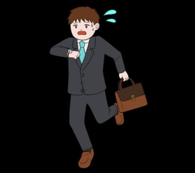 仕事に遅刻するイラスト