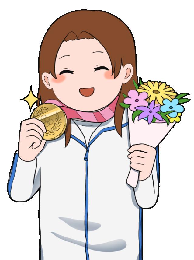 金メダルを獲得した女性のオリンピック選手2